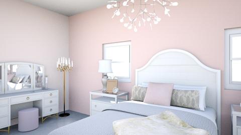 Rosy Bedroom - Feminine - Bedroom - by cinderellagirl7