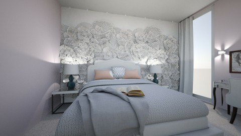 white apartment_bedroom - by annsal