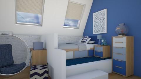 boy bedroom - Bedroom - by Sanja Pipercic