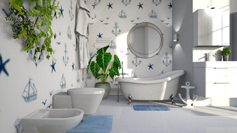 nautical bathroo - Bathroom - by BortikZemec