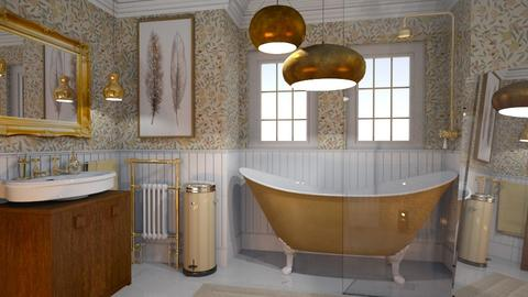 Bathing in gold - Rustic - Bathroom - by HenkRetro1960