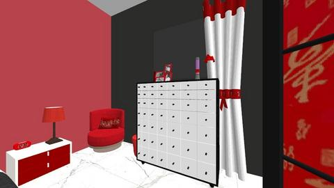 luxuryRedBlackBdFilmRoom  - Modern - Bedroom - by jade1111