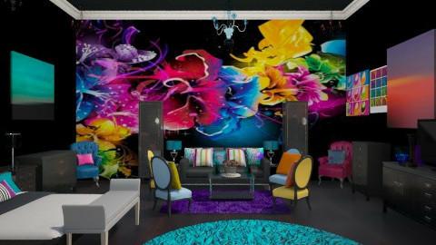 Neon Flower Room - Retro - by DiamondJ569