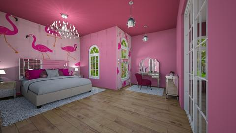 Pretty in Pink - Bedroom - by Nikki Lipstick