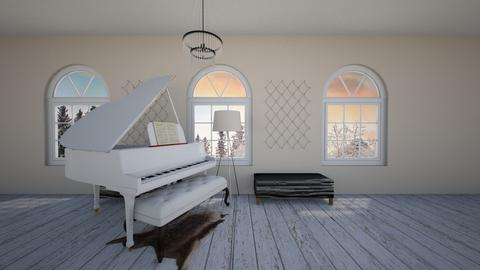 piano room - Classic - Office - by Chrissy101