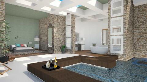 En suit courtyard  - Modern - Bedroom - by Georgieex