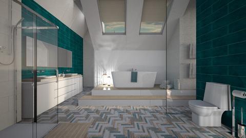 attic bathroom - by Senia N