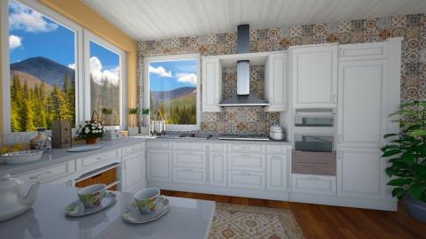 white kitchen - by Mazsola
