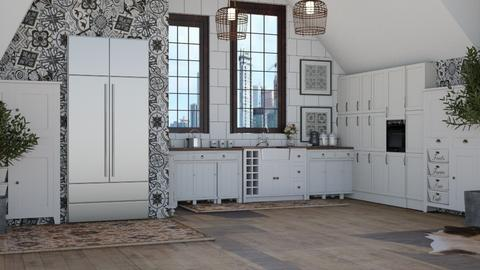 Elegant yet Modern  - Modern - Kitchen - by NEVERQUITDESIGNIT