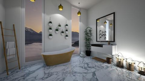 modern marble bathroom - Modern - Bathroom - by Lucywrz