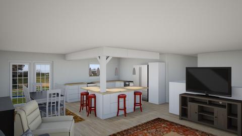 Beam pillar Dcrst r5 - Living room - by Richard Fisher