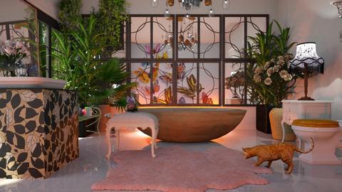 Butterfly_Bath - Bathroom - by ZuzanaDesign