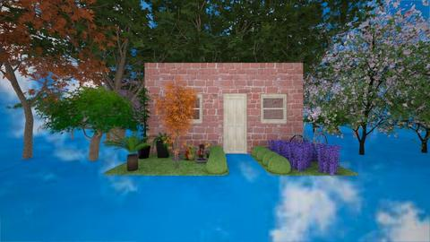 Front of a house garden - by RemmiTiger