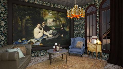 Art Collectors Manor - Living room - by Emily5789