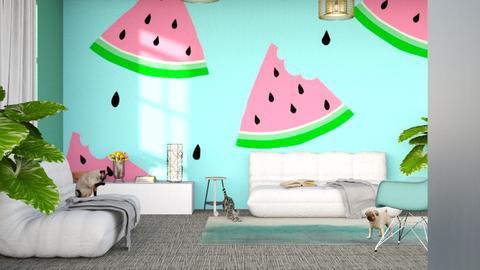 Splash of Summer - Modern - Living room - by millerfam