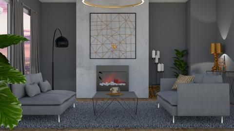 Grey LR - Living room - by nellica