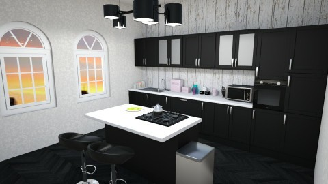 black and white  - Classic - Kitchen - by Elda