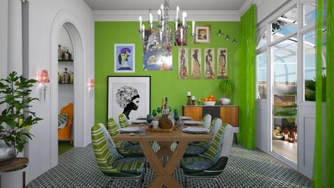 tropics bright green - Global - Dining room - by donella