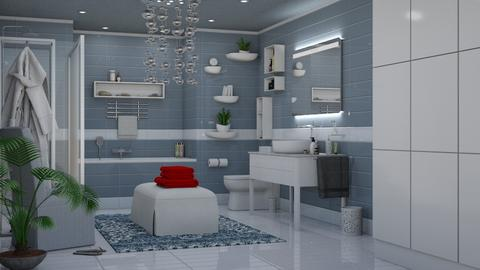 Serviettes Rouges - Eclectic - Bathroom - by Theadora