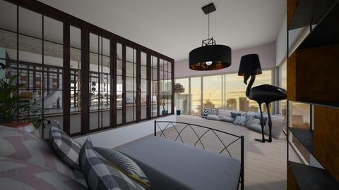 A bedroom for a teenager - Minimal - Bedroom - by Zosia Zakrzowska