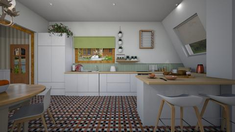 island kitchen - Eclectic - Kitchen - by donella