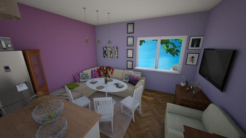 skwer fiolet - Living room - by oldzi92