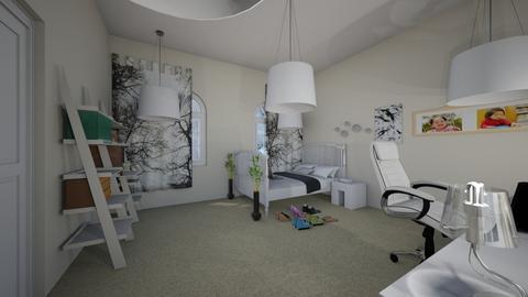 My White Room - Retro - Bedroom - by NyohalaniT