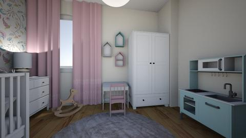 Pokoj Milenki projekt 2 - Minimal - Kids room - by Marta Orzechowska
