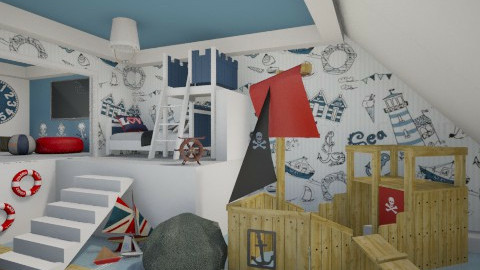 pirate room - Kids room - by miadesign