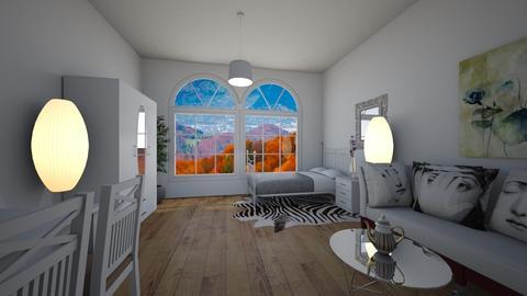 White romance - Modern - Bedroom - by Twerka