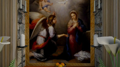 Annunciation by Murillo - Classic - by russ