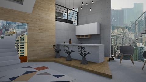 Lo_Fi - Modern - Kitchen - by RedPandaRooms
