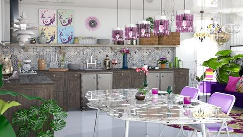 Chocolate - Eclectic - Dining room - by LuzMa HL