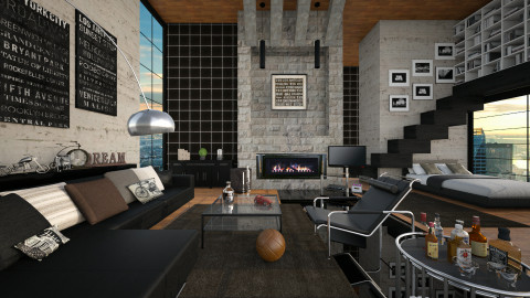 men case - Living room - by Sama Elhendy