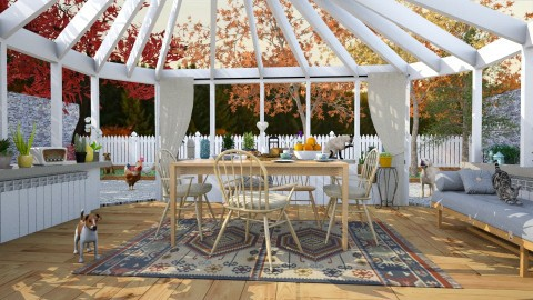 Countryside Paradise - Rustic - Dining room - by katarina_petakovi