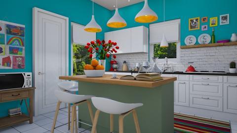 playful kitchen - Kitchen - by NettaR48