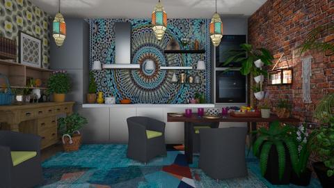 boho kitchen 1 - by deemuri_co
