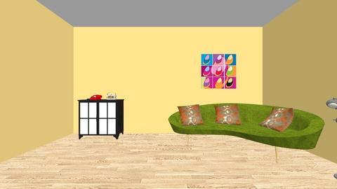 Interior Design Project - Retro - Living room - by MelanieJ1978