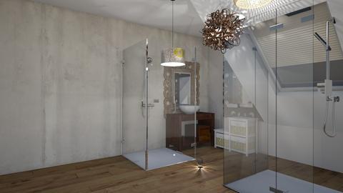 small bathroom attic - Bathroom - by ewcia3666
