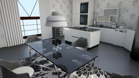 Black and White - Modern - Kitchen - by Teti