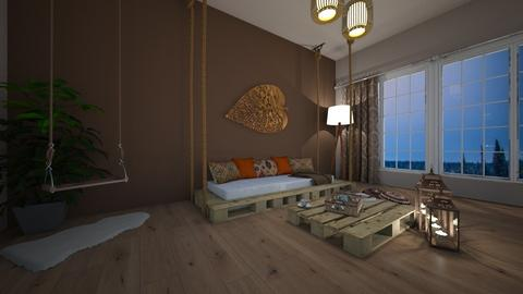 Boho living room  - Living room - by Denisa250