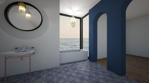 Blue - Bathroom - by bethmason1887