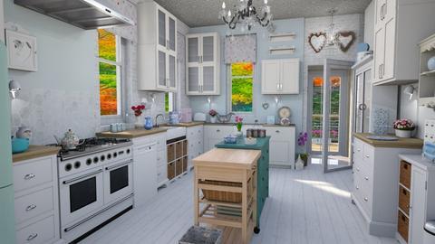 Shabby chic white kitchen - Kitchen - by Moonpearl