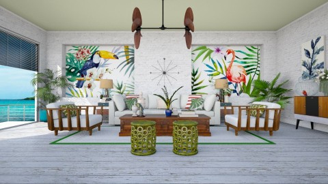 Tropical Escape - Living room - by meggle