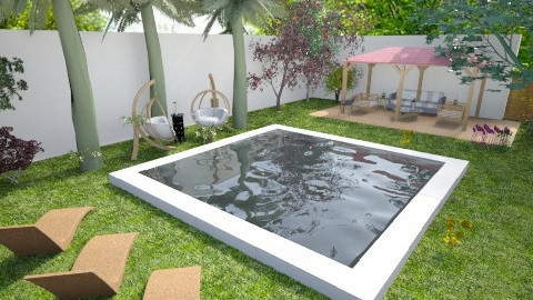 swim garden - Garden - by BlueFede