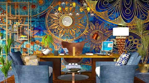 Bohemian Office - Bathroom - by ritsa