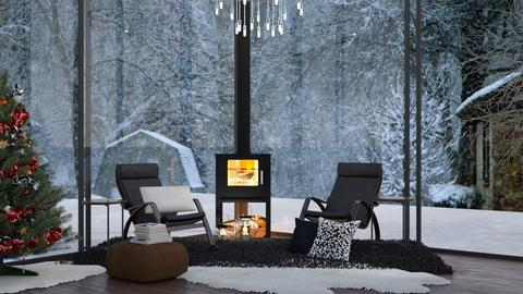 Modern Christmas  - Modern - Living room - by NEVERQUITDESIGNIT