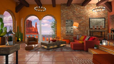 Canyon Inspiration - Living room - by Mandine