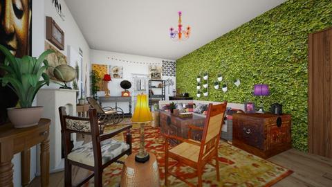 The Bohemian Traveler - Living room - by SammyJPili