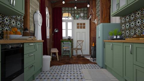 Hunters lodge kitchen - Country - Kitchen - by HenkRetro1960